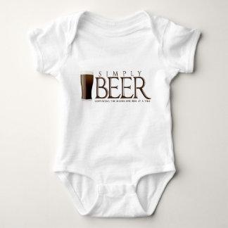 単にビール ベビーボディスーツ