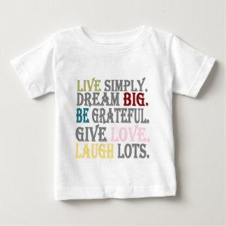 単に住んで下さい ベビーTシャツ