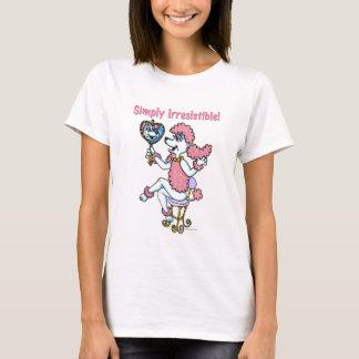 単に抵抗できないピンクのプードルのワイシャツ Tシャツ