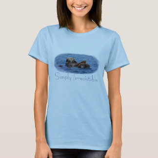 単に抵抗できないラッコの女性Tシャツ Tシャツ