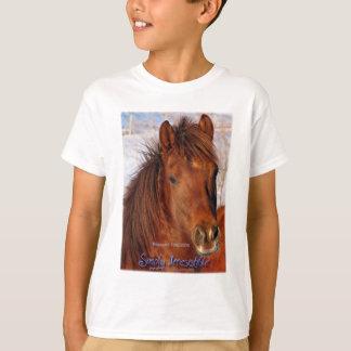 単に抵抗できない救助の馬のブリトー Tシャツ