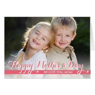 単に甘い母の日の写真カード ノートカード