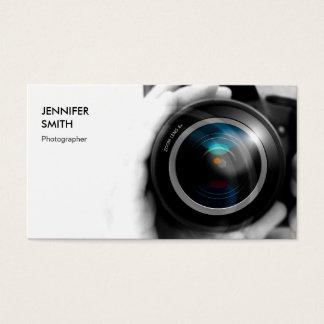 単に白黒カメラマンのカメラレンズ 名刺