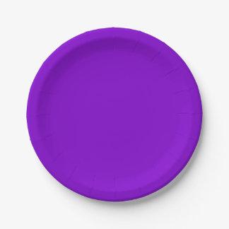 単に紫色の無地 ペーパープレート