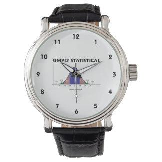 単に統計的な鐘のカーブのギークのユーモア 腕時計