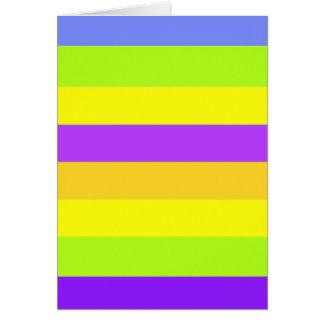 単に縞で飾ります カード