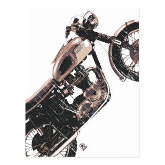 単に美しくクラシックなオートバイ ポストカード