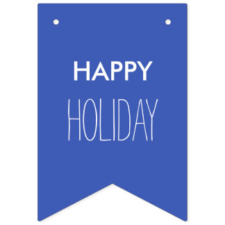 単に色及びあなたの文字: 幸せな休日 バンティングフラッグ