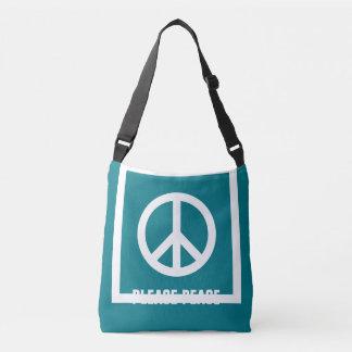 単に記号/アイコン-平和 + アイディア クロスボディバッグ