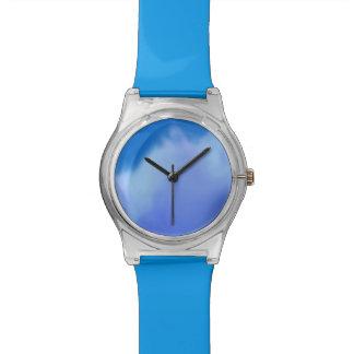 単に青い 腕時計