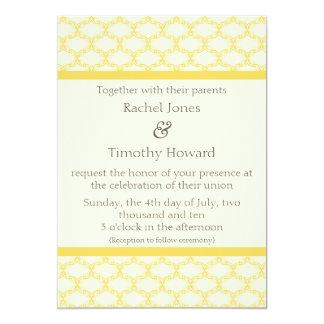 単に魅力的な結婚式の招待、サフランの黄色 カード