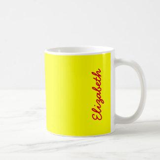 単に黄色い無地 コーヒーマグカップ