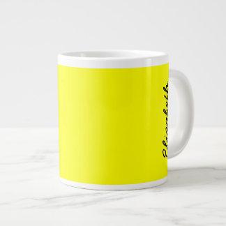 単に黄色い無地 ジャンボコーヒーマグカップ