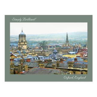 単に、オックスフォード華麗、イギリスの屋根の平面図 ポストカード