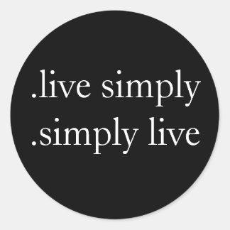 単に.live。 単に生きているステッカー ラウンドシール