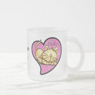 単にPurrfect -子ネコのマグ フロストグラスマグカップ