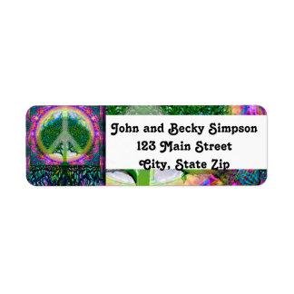 単一性および平和生命の樹 ラベル