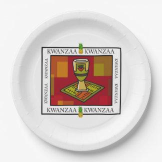 単一性のコップのKwanzaaのパーティーの紙皿 ペーパープレート
