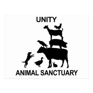 単一性の動物の聖域の商品 ポストカード