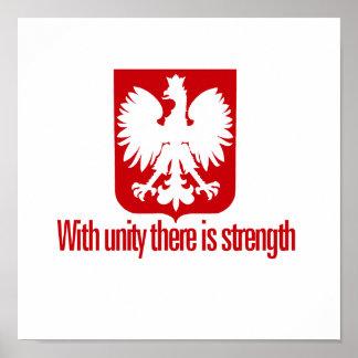 単一性の強さポーランドと ポスター