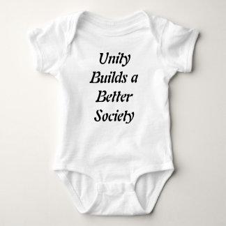 単一性はよりよい社会のTシャツを造ります ベビーボディスーツ