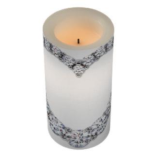 単一性を結婚する白いダイヤモンドのハート LEDキャンドル