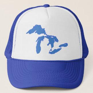 単独で五大湖の-トラック運転手の帽子 キャップ