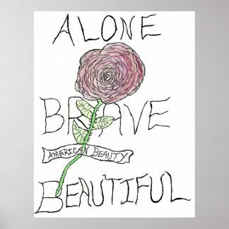単独で勇敢な美しい-ポスター ポスター