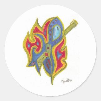 単独のギター ラウンドシール