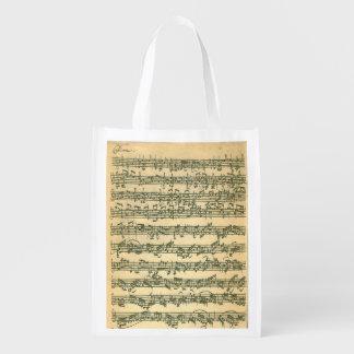 単独のバイオリンのためのBach Chaconneの原稿 エコバッグ
