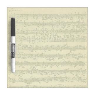 単独のバイオリンのためのBach Chaconneの原稿 ドライイレースボード