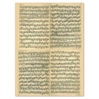 単独のバイオリンのためのBach Chaconneの原稿 薄葉紙