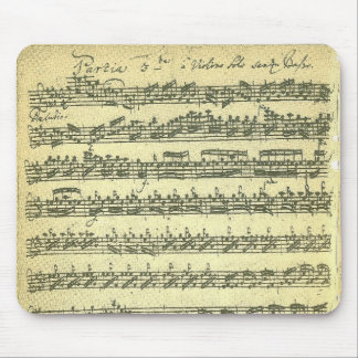 単独のバイオリンのためのBach Partita音楽原稿 マウスパッド