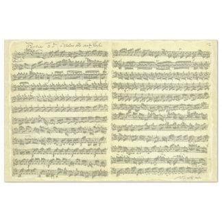 単独のバイオリン音楽原稿のためのBach Partita 薄葉紙