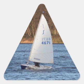 単独の競争のディンギー 三角形シール