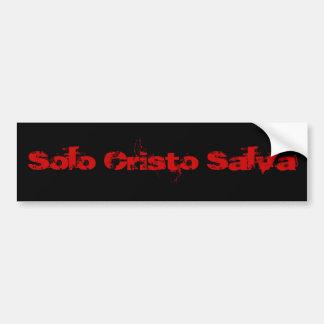単独のCristo Salva (Rojoか黒人) バンパーステッカー