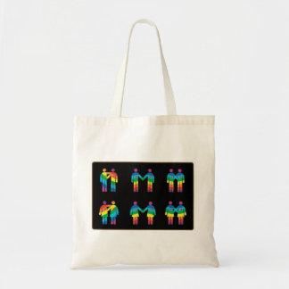 単独トートバックの虹のカップル トートバッグ