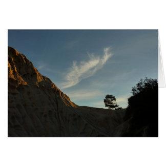 単独トーリーパインカリフォルニア日没の景色 カード