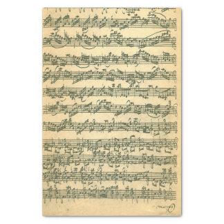 単独バイオリンのためのBach Chaconneの原稿 薄葉紙