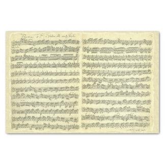 単独バイオリンのためのBach Partita音楽原稿 薄葉紙