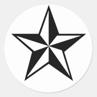 単独星のステッカー ラウンドシール
