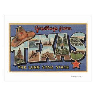単独星の州からのTexasGreetings ポストカード