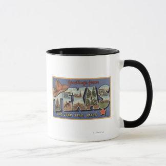 単独星の州からのTexasGreetings マグカップ