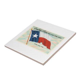 単独星の州のテキサス州TXのヴィンテージ旅行記念品 タイル