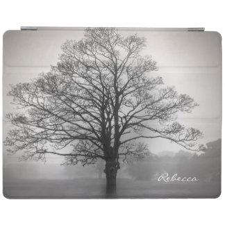 単独木の写真の名前入りなiPadカバー iPadスマートカバー