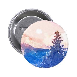 単独木の水彩画 5.7CM 丸型バッジ