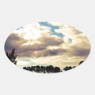 単独木 楕円形シール