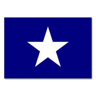 単独白い星のテーブルカードが付いている魅力的な青旗賞 カード