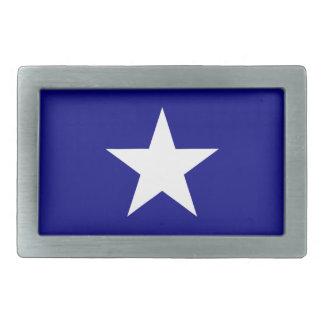 単独白い星のベルトの留め金が付いている魅力的な青旗賞 長方形ベルトバックル