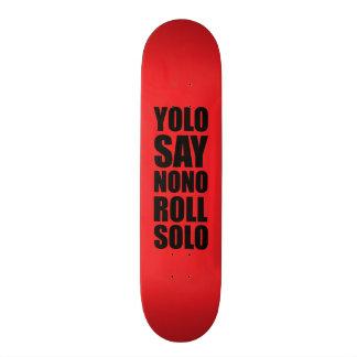 単独YOLOロール 19.7CM スケートボードデッキ